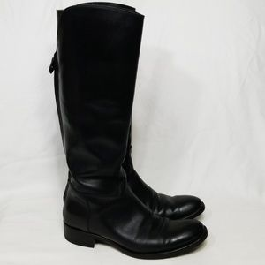 Loro Piana Wellington Black Leather Riding Boot 37